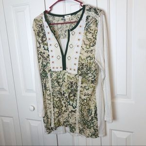 Anthropologie Tiny Elsinore Embroidery Top XL NWOT